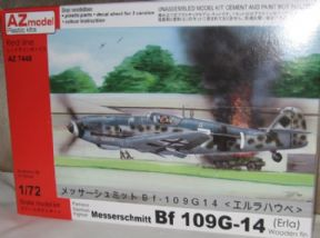 AZM74048 1/72 Messerschmitt Bf 109G-14 (Erla Haube) with wooden fin